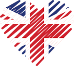 Logo of Top Dating Sites UK, Heart Shaped Image of UK flag.